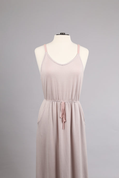 Strap Dress in Light Grey