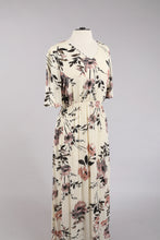 Floral Maxi Dress in Ivory