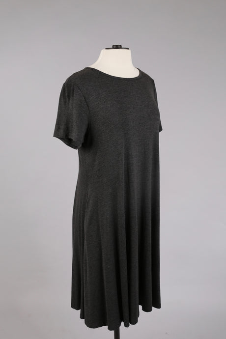 Basic Dress in Charcoal