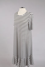 Striped Swing Dress in White