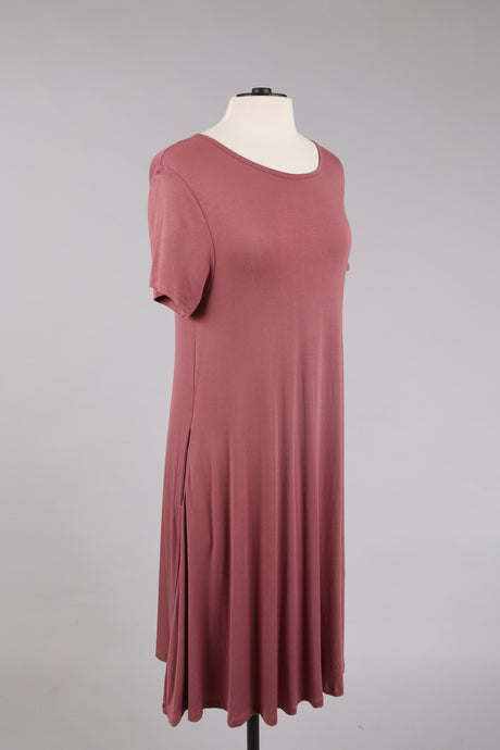 Basic Dress in Mauve