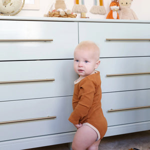 Ribbed Onesie in Burnt Orange