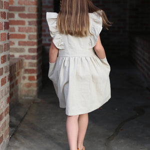 Ruffle Dress in Natural