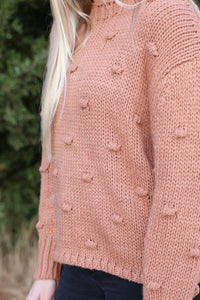 Bobble Sweater in Ginger