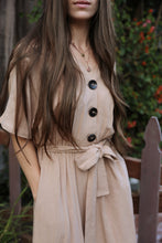 Button Dress in Brown