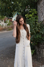 Button Dress in Oatmeal