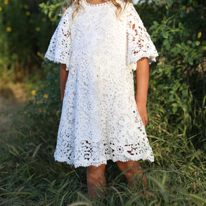 Girls Floral Lace Dress