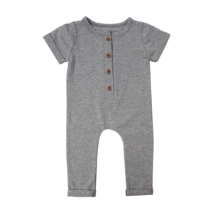 Short Sleeve Romper in Grey