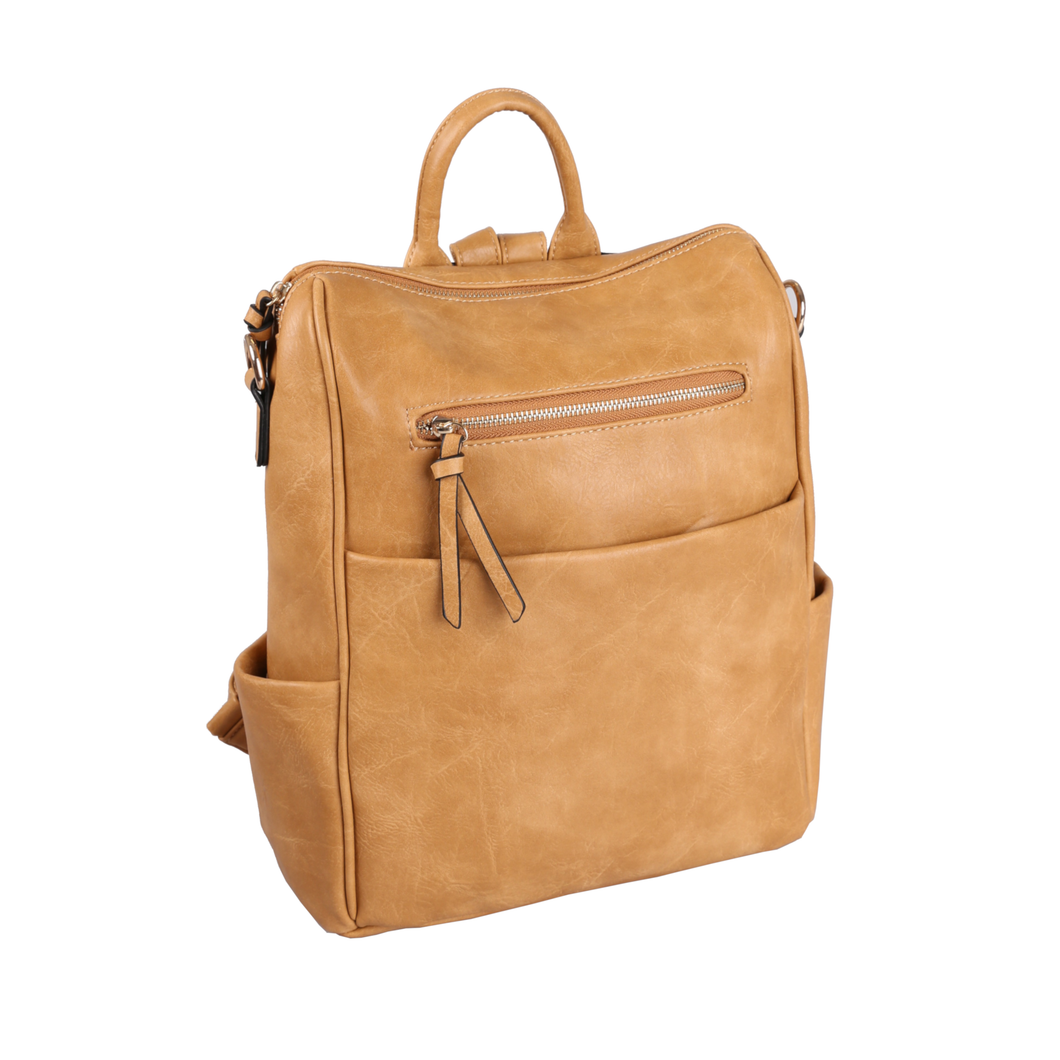 Boxy Backpack in Tan