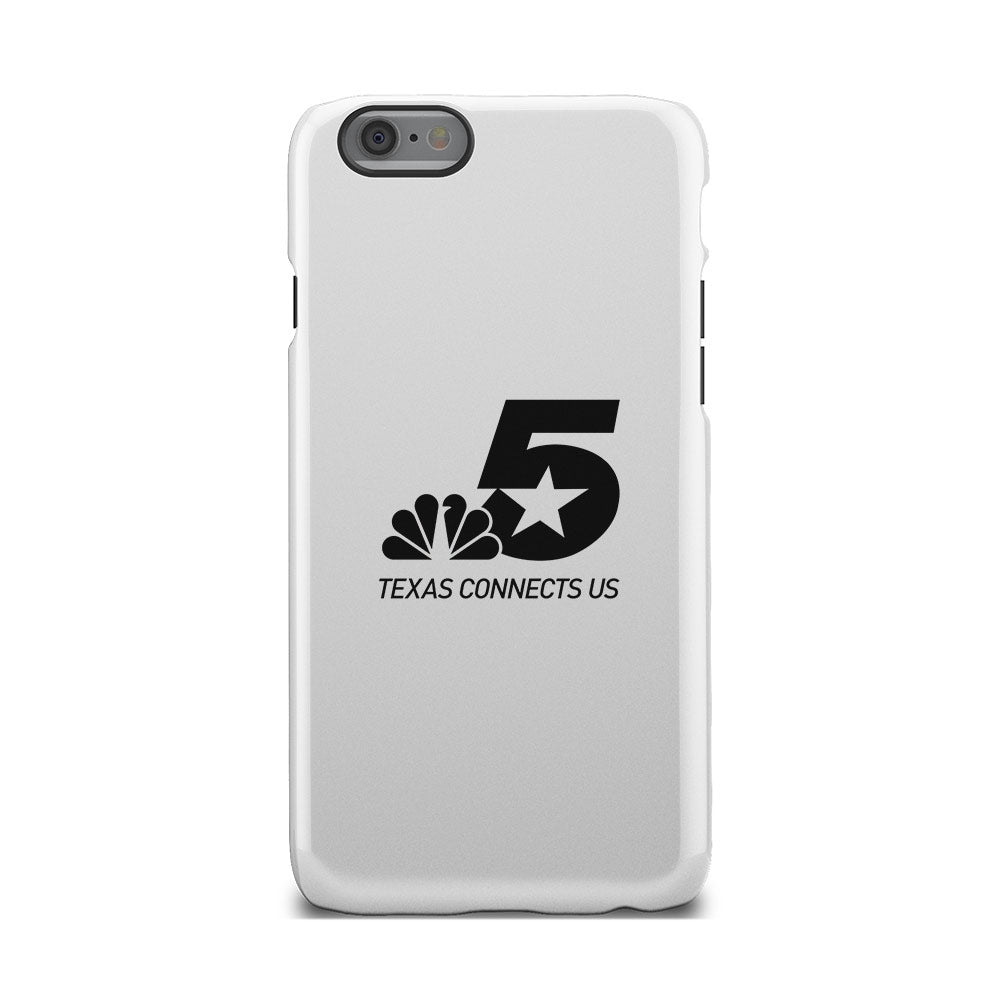 NBC 5 Texas Connects Us Black Logo iPhone Phone Case