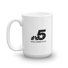 NBC 5 Black Logo White Mug