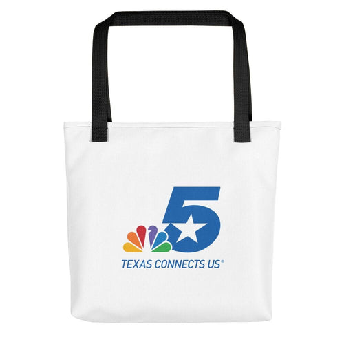 NBC 5 Texas Connects Us Color Logo White Tote Bag