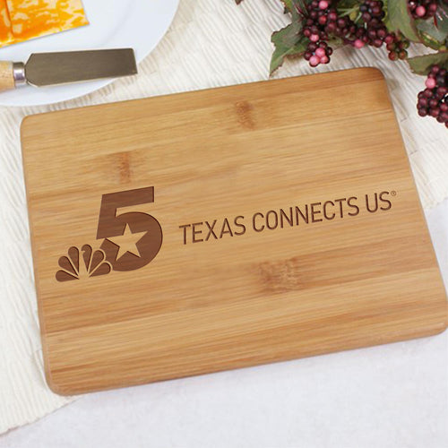 NBC 5 Texas Connects Us Logo Cutting Board
