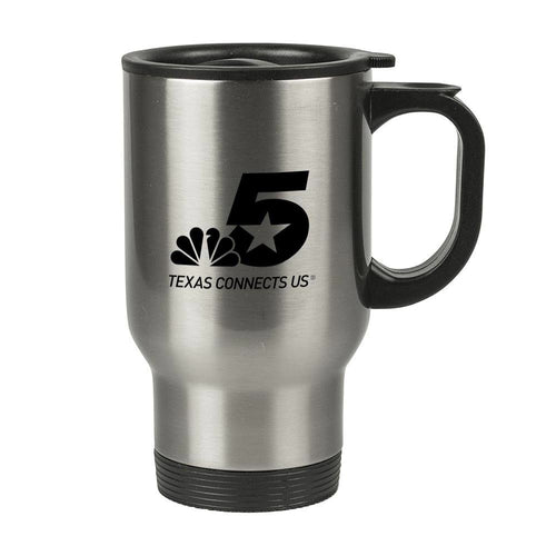 NBC 5 Logo Stainless Steel Travel Mug