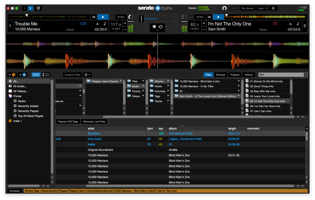 Streaming with Serato from Filegear