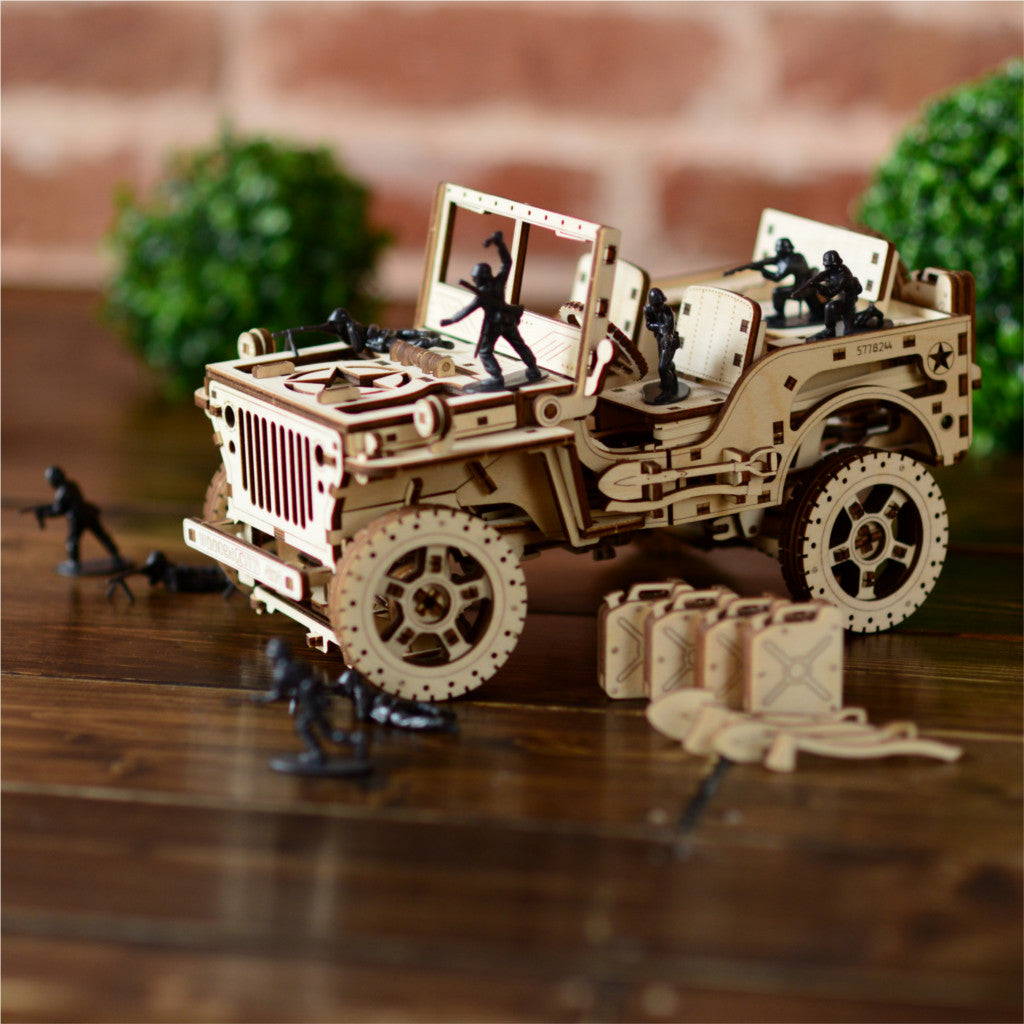 4X4 Willys Army Wrangler Jeep Model Kit