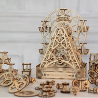Ferris Wheel Wooden City Model Kit