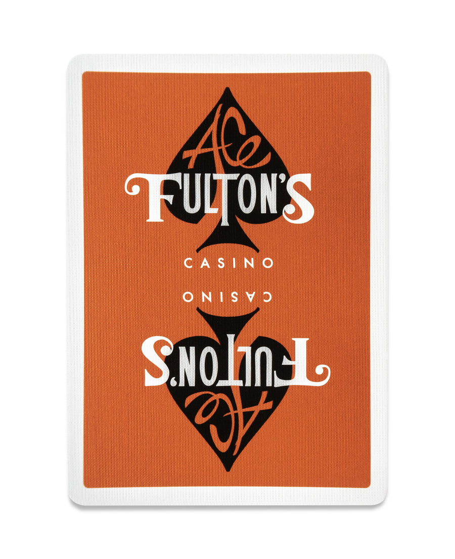 Ace Fulton's Casino: Vintage Back Orange