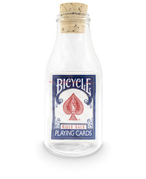 Impossible Bottle: Bicycle Rider Back Blue