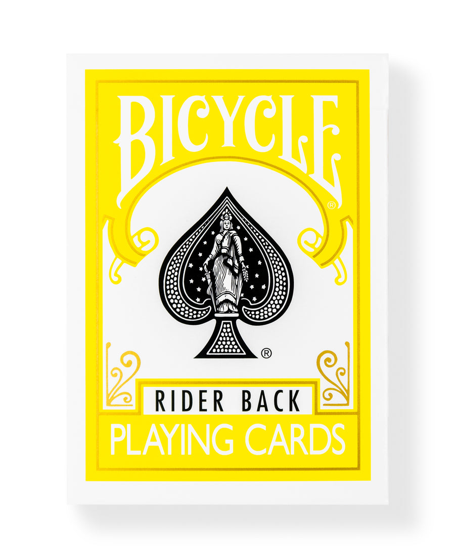Bicycle Rider Back: Yellow