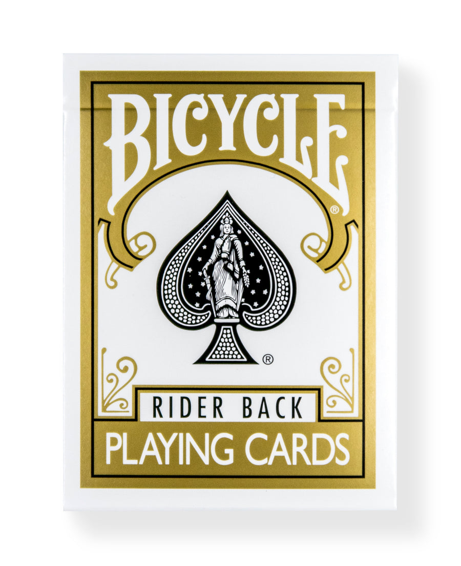 Bicycle Rider Back: Gold