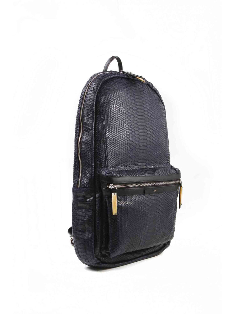 APRIY, Backpack Laptop, Midnight Blue Python