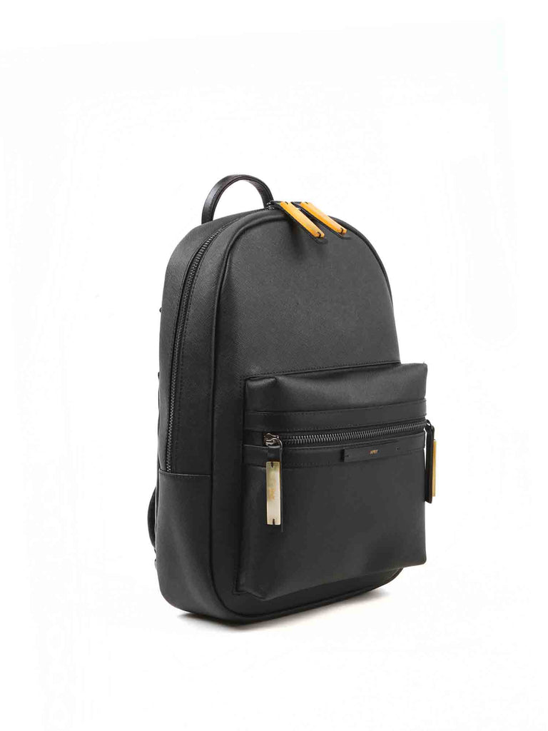 APRIY, Backpack Small, Black Saffiano