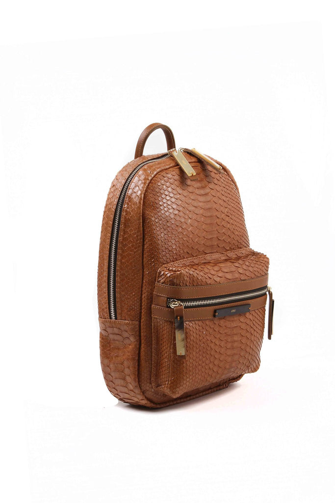 APRIY, backpack small, caramel python