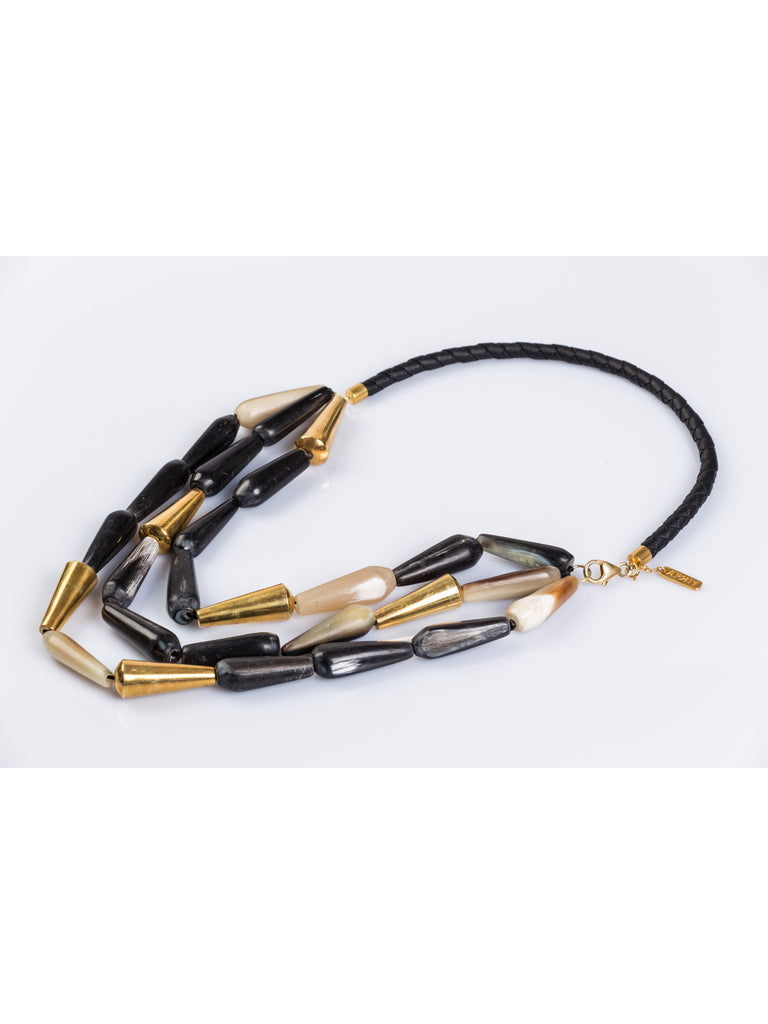APRIY, Brancusi Gold Horn Necklace