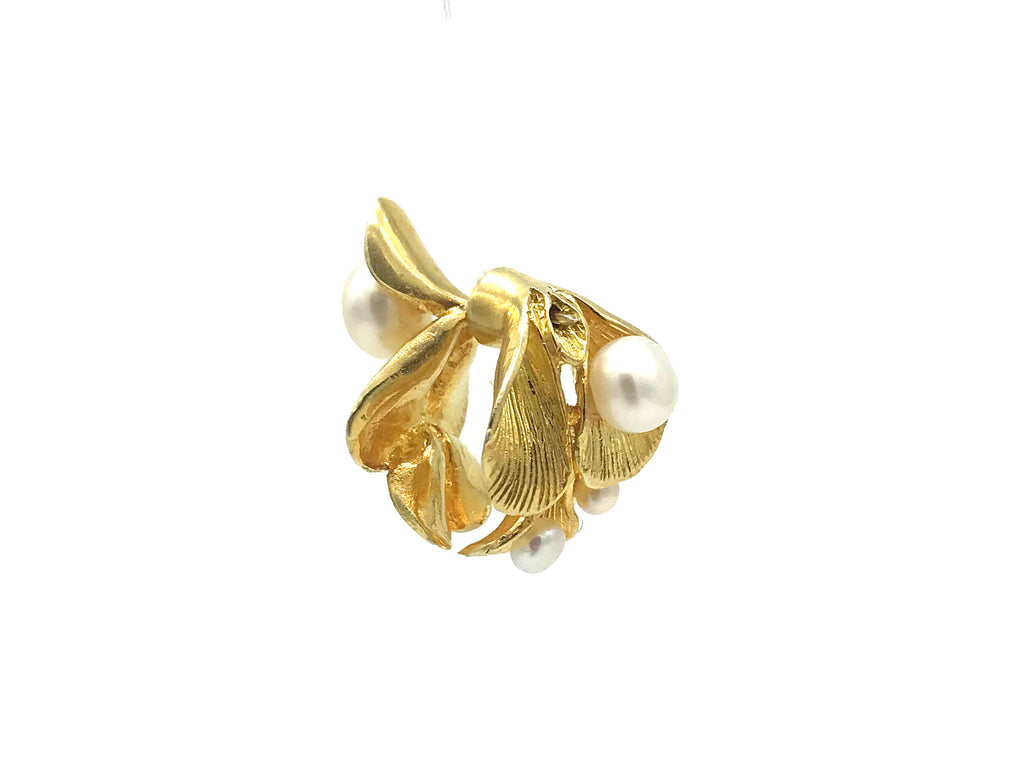 APRIY, Bespoke Golden Cambodia Floral Pearls Earring