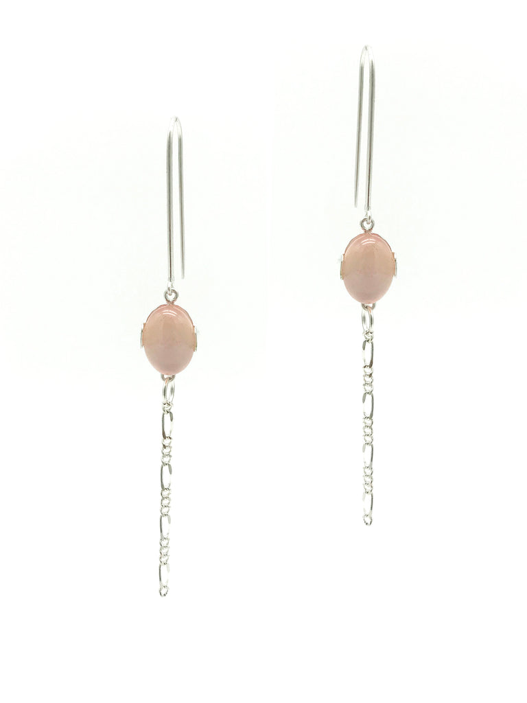 A-COMMENT, Rose Quartz Hook Earring