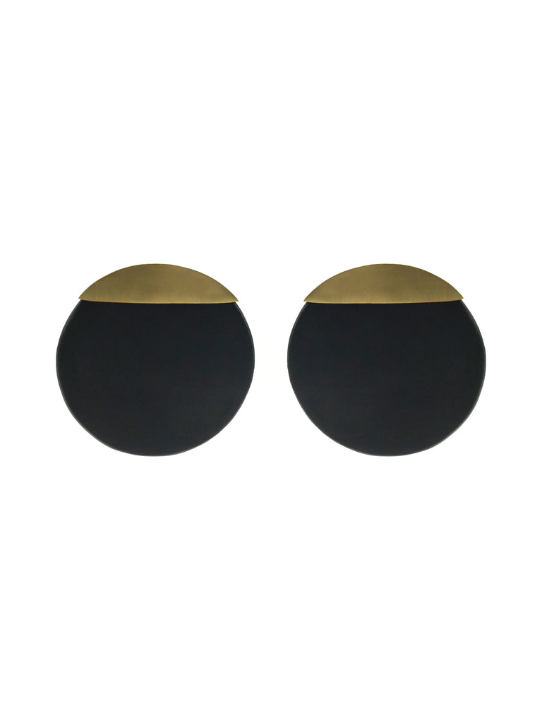 A-COMMENT, Gold Disk Earring