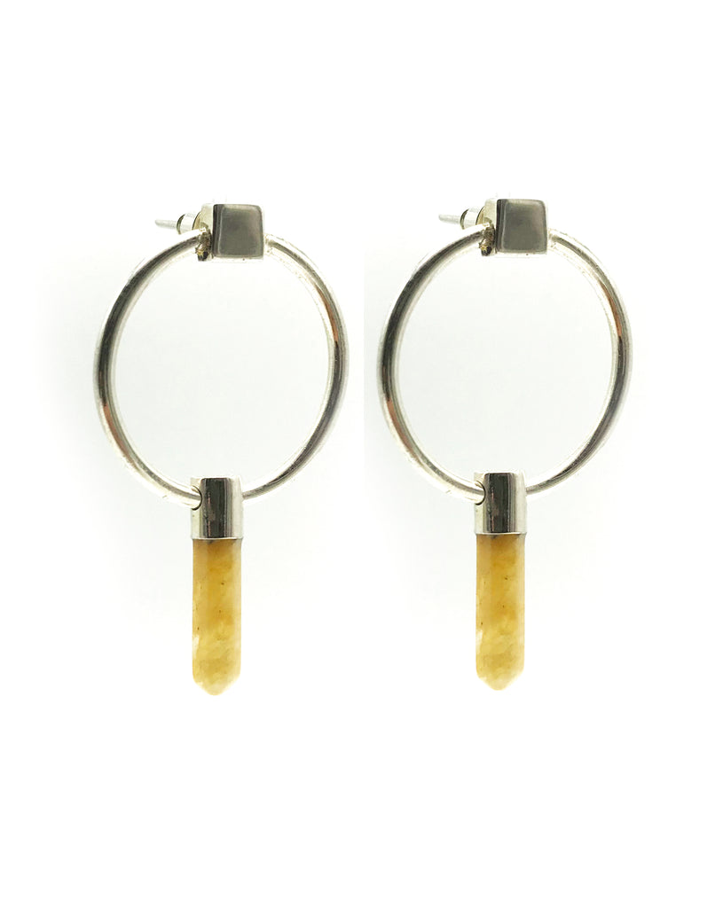 A-COMMENT, Yellow Jasper Universe Earring