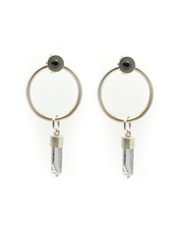 A-COMMENT, Black Spinel and Crystal Universe Earring
