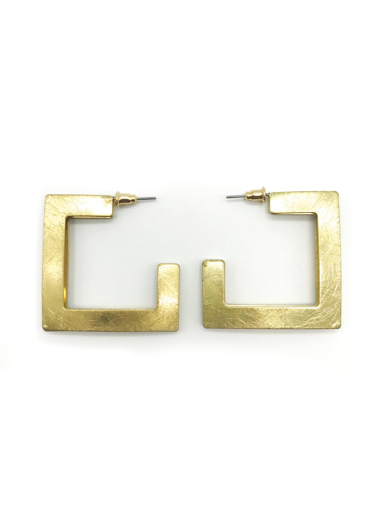 AYA By APRIY, Gold Square Earring