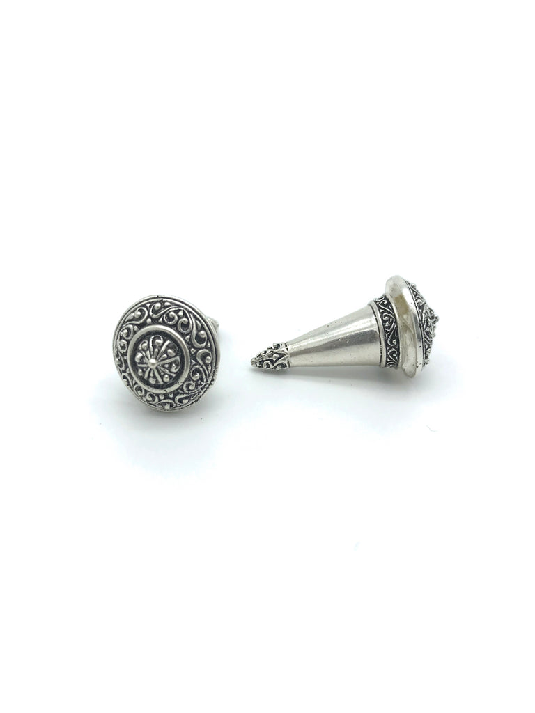 Silver Cone,  Medium Earring