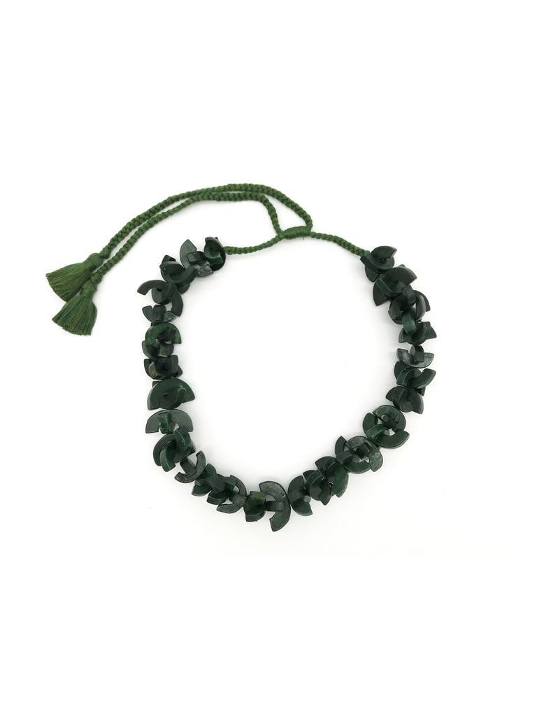 AYA By APRIY, U Bone Green Necklace