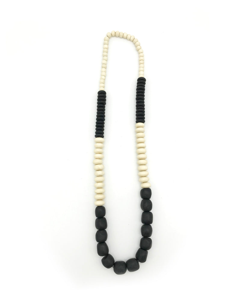 AYA Bijoux, Wood Balance Black Necklace