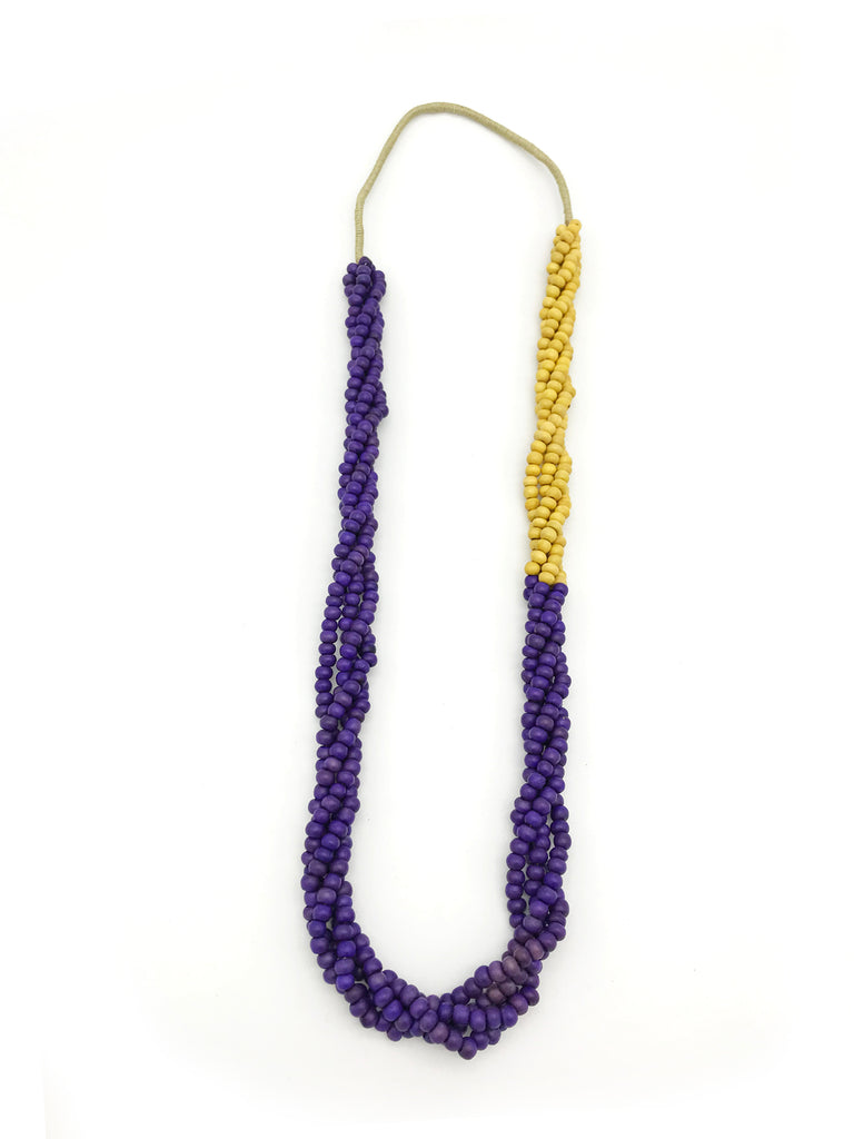 AYA Bijoux, Wood Twister Purple Necklace