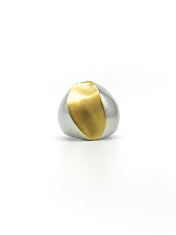 AYA By APRIY, Z Gold & Silver Ring