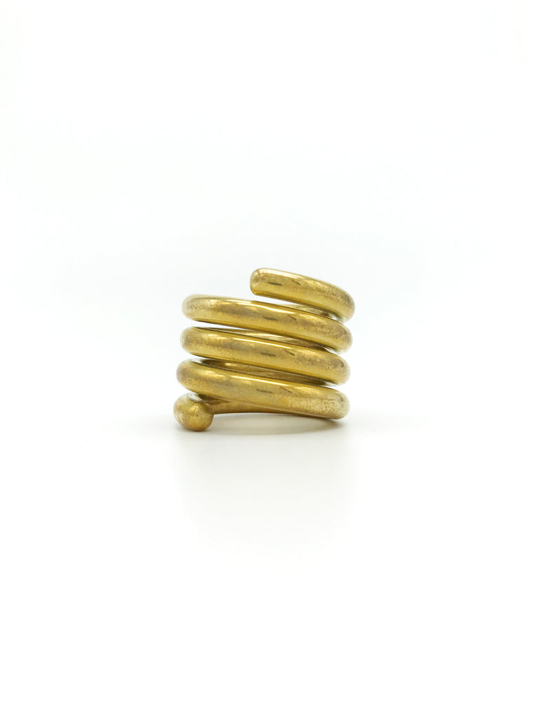 AYA By APRIY, Spiral Gold Ring