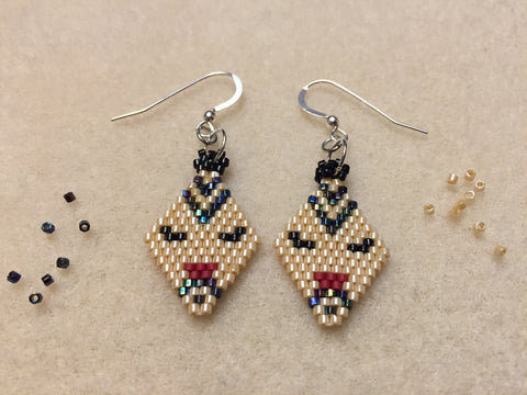 Tattooed women earrings