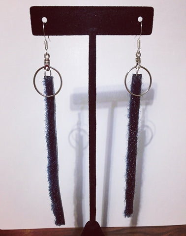 Sealskin dangle earrings