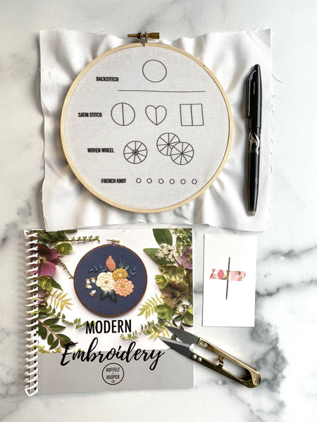 Hand Embroidery Starter Kit for Beginners