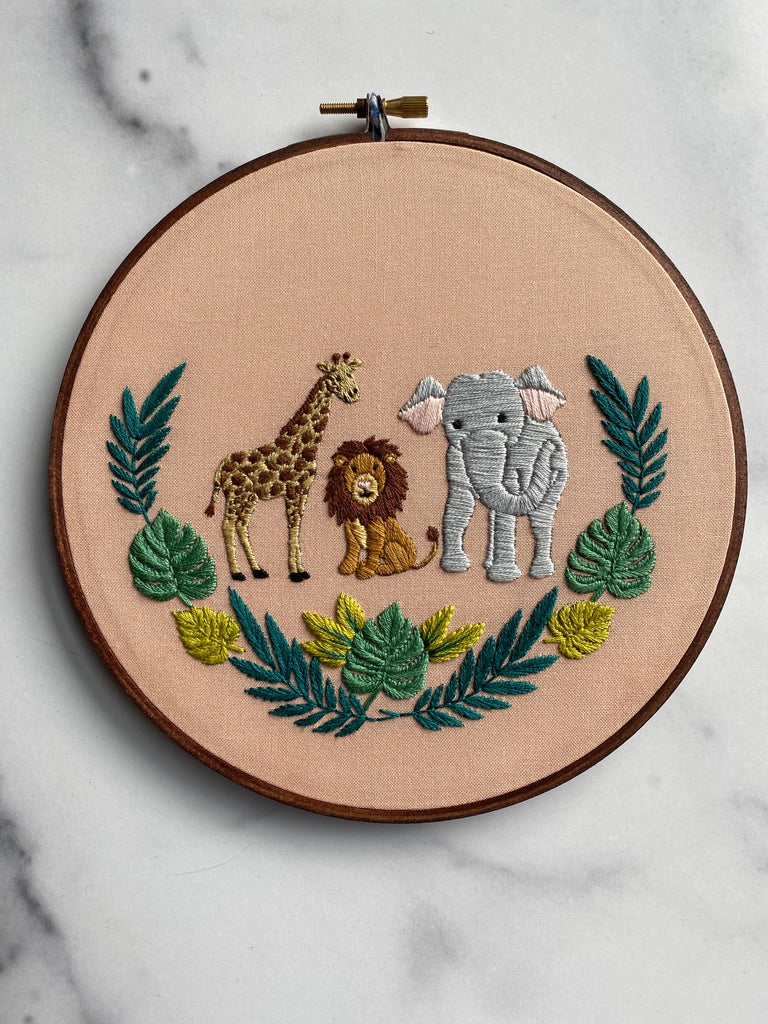 Jungle Pals Hand Embroidery Kit