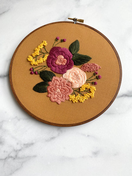 Hand Embroidery Kit for Beginners - Charlotte (yellow)