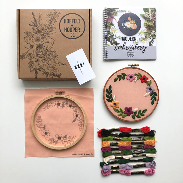 Hand Embroidery Kit for Beginners - Ella Jade (peach)