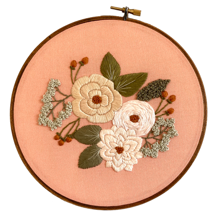 Hand Embroidery Kit for Beginners - Ella Jade (cream)