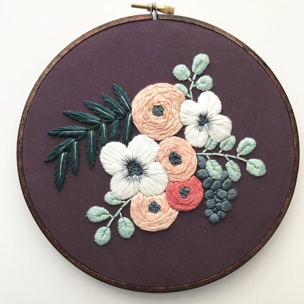 Hand Embroidery Kit for Beginners - Colette