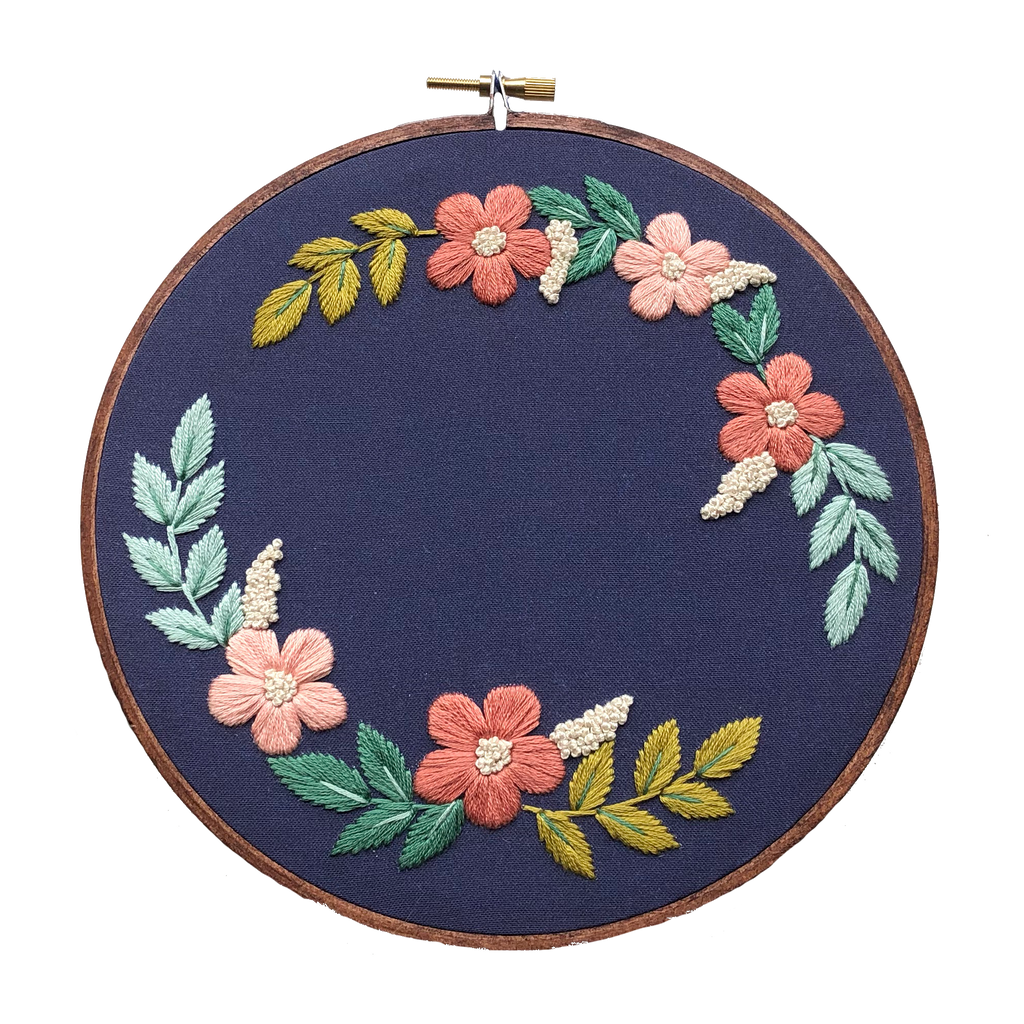 Hand Embroidery Kit for Beginners - Ella Jade (navy)
